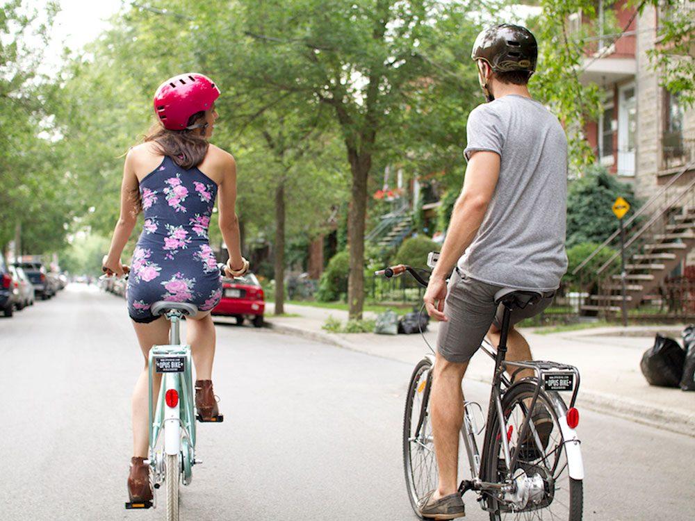 Le Circuit patrimonial à vélo est l'une des pistes cyclables à essayer à Montréal.