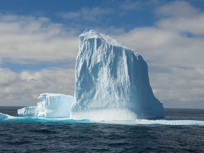 Canular: le poisson d'avril de l'iceberg à Sydney.