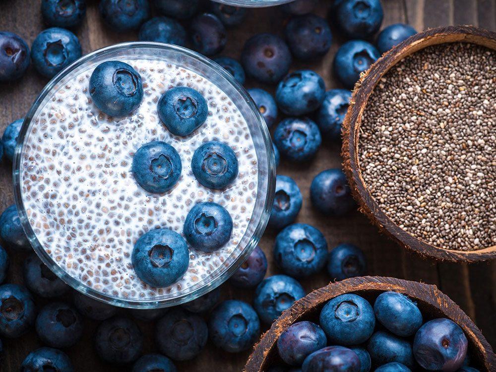 De délicieuses recettes de pouding aux graines de chia.
