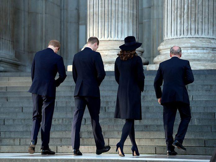 La famille royale durant le deuil national du Prince Philip.
