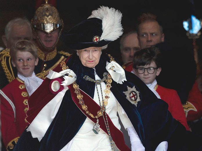 Après les obsèques du Prince Philip.