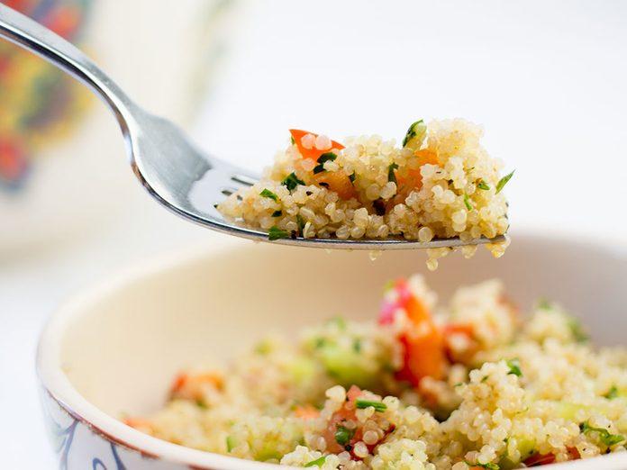 Attention aux allergies au quinoa.