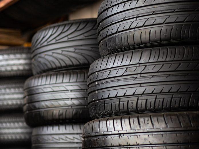 Où entreposer après un changement de pneus?