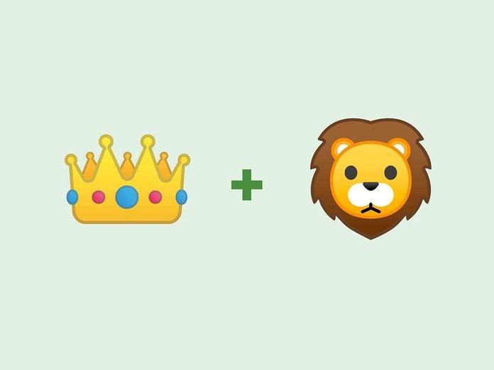 «Le roi lion» en émojis.