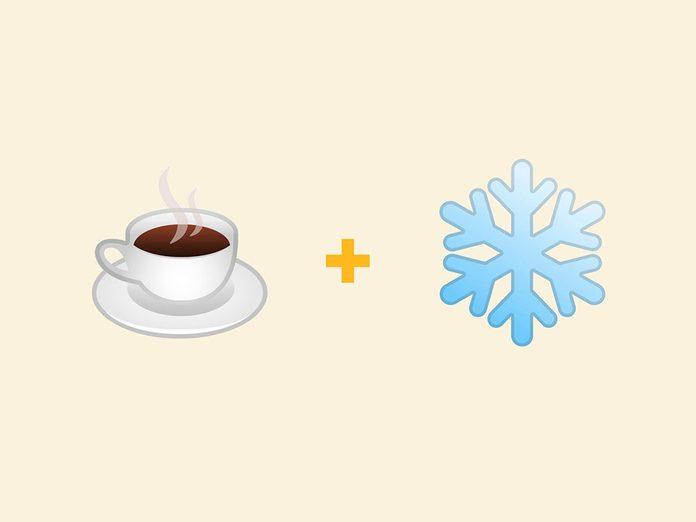 Un café glacé en émojis.