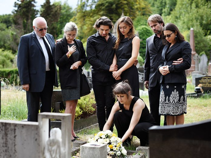 Funérailles: un objet souvenir.