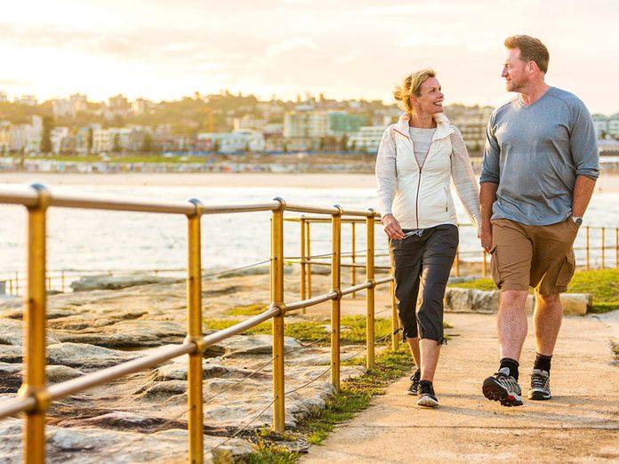 Faire une promenade pour une meilleure gestion du stress.