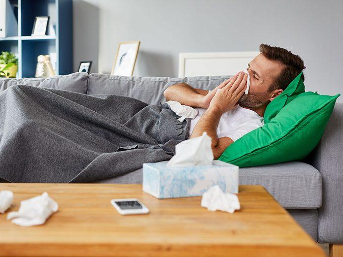 Chaque rhume fait des dégâts pour l'odorat.