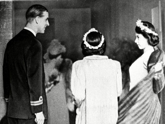 Le prince Philip lors du mariage de Patricia Mountbatten.