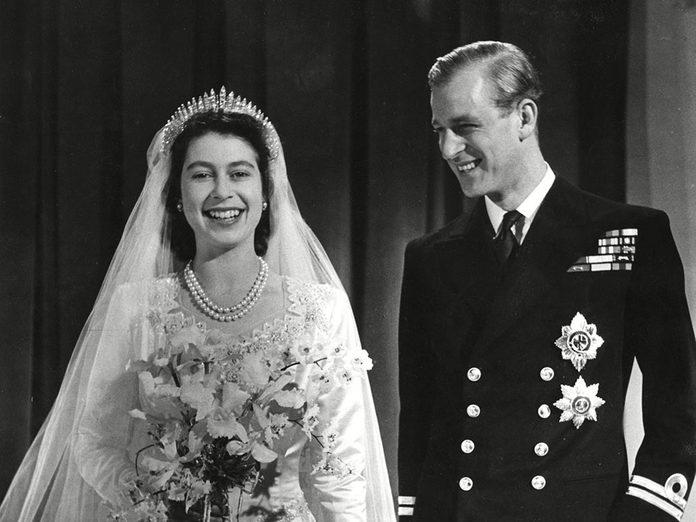 Le prince Philip en tant que nouveau marié.