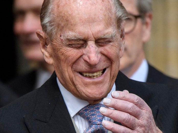 Le prince Philip au mariage de Lady Gabriella Windsor.