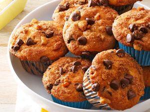 Muffins traditionnels aux pépites de chocolat