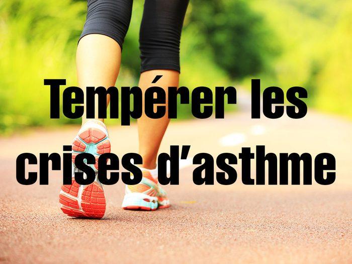 Bienfaits de la marche: elle permet de tempérer les crises d'asthme.