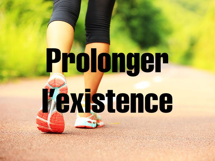 Bienfaits de la marche: elle permet de prolonger l'existence.