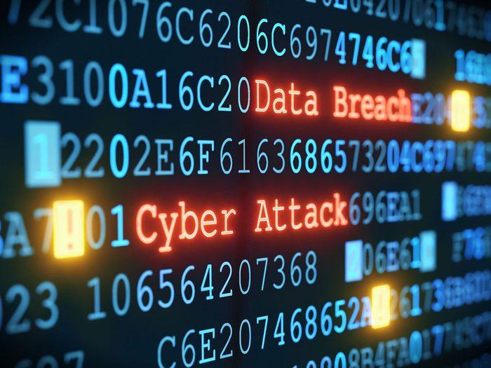 Comment ne pas se faire pirater: soyez conscients des violations de données.