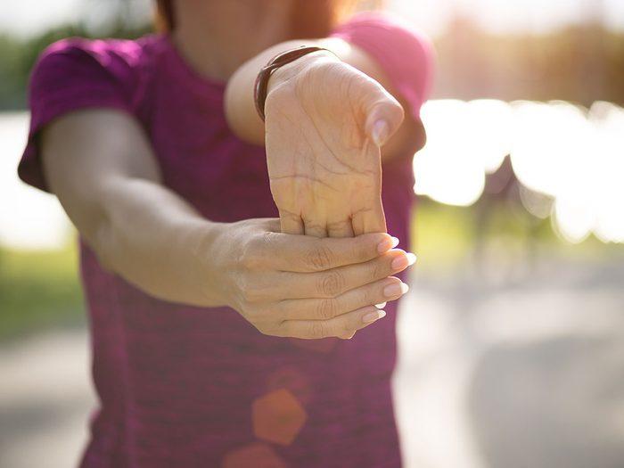 L'importance des étirements de poignets.