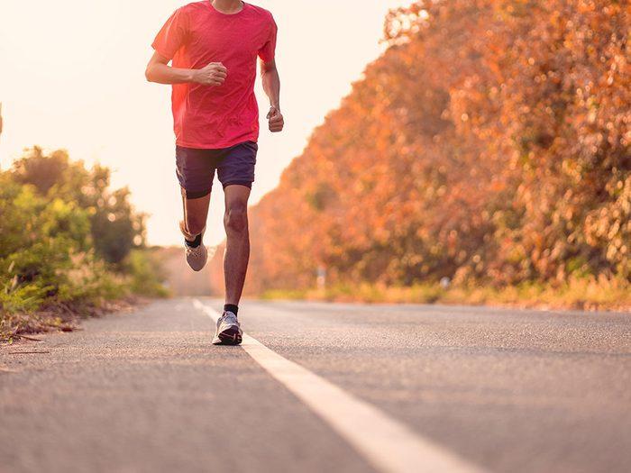 Fausse idée sur l'exercice: je cours une fois par semaine, mais ce n'est pas assez.