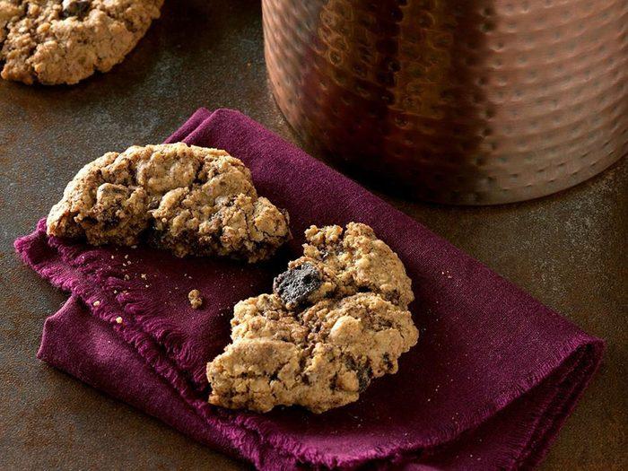Recette de biscuits à l'avoine et au chocolat mexicain.
