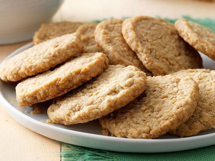 Recette de biscuits au gruau.