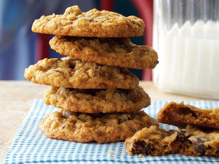 Recette de biscuits moelleux à l'avoine.