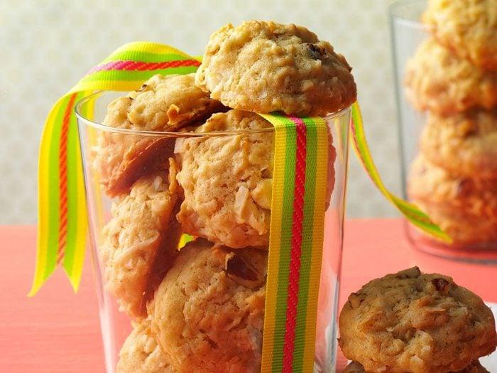 Recette de biscuits à l'avoine et à la noix de coco de Tatie Myrtle.