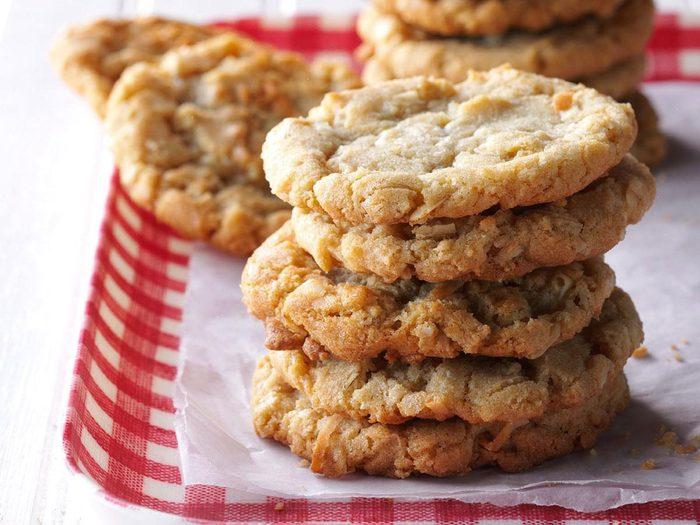 Recette de biscuits à l'avoine et à la noix de coco de grand-mère Krauss.