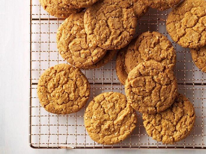 Recette de biscuits à l'avoine et au pain d'épice.