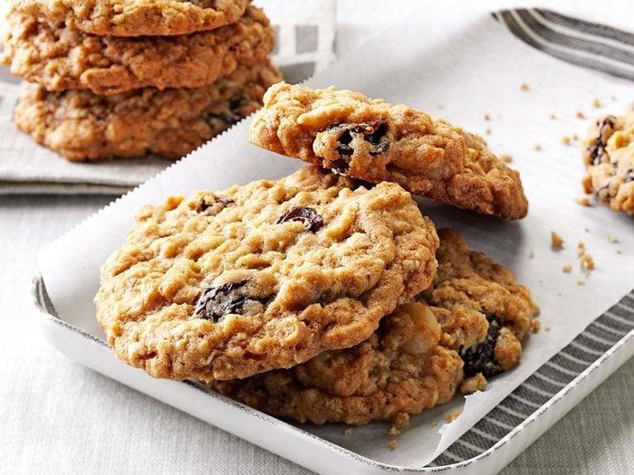 Recette de biscuits succulents à l'avoine.