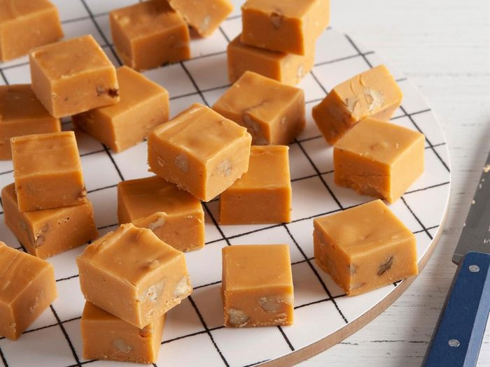 Recettes de fudge au caramel.