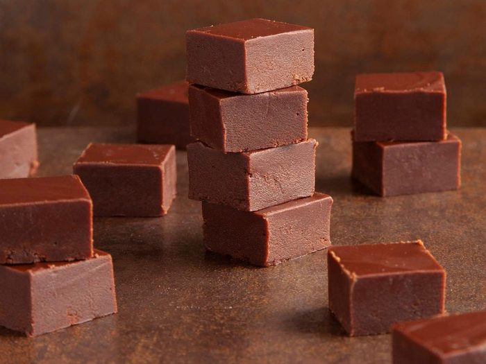 Recette de fudge parfait au chocolat.
