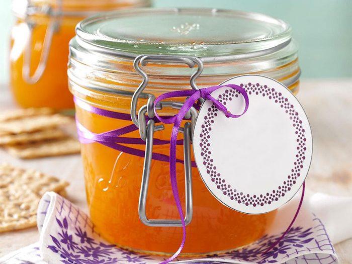 Recette de gelée d'orange en pot.