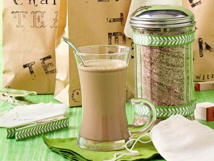 Recette en pot de mélange de thé chai.