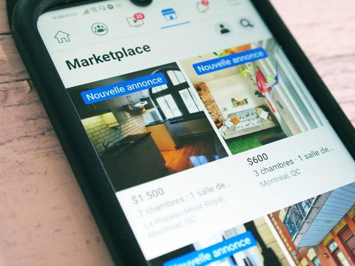 Utiliser les réseaux sociaux pour la recherche d'appartement.