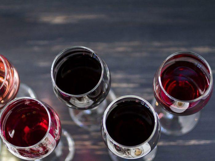 Le vin rouge est à éviter dans le cadre d'un régime keto.