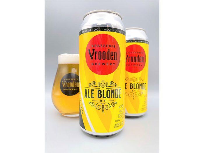 La brasserie Vrooden propose des produits sans alcool.