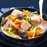 Recette pour le thermomix: Blanquette de saumon aux champignons des bois