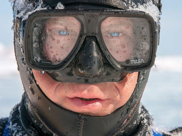 Mario Cyr est allé 20 mille lieues sous les glaces.