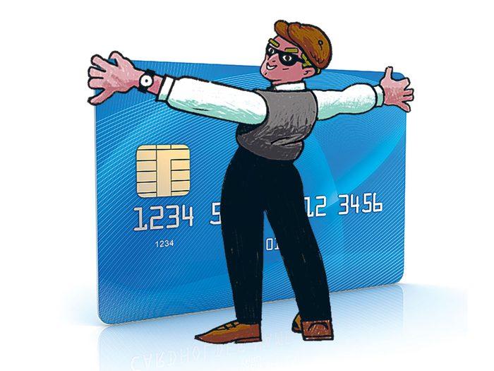 Redoublez de prudence avec votre carte de crédit pour éviter une arnaque.