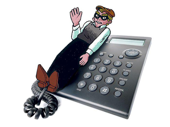 Coupez court aux appels importuns pour éviter les arnaques.