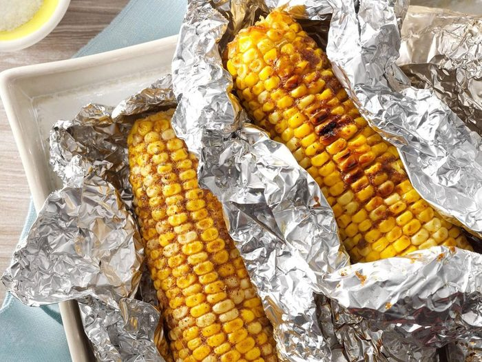 Recette de maïs grillé épicé arbecue.