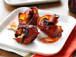 Bouchées de bacon aux champignons