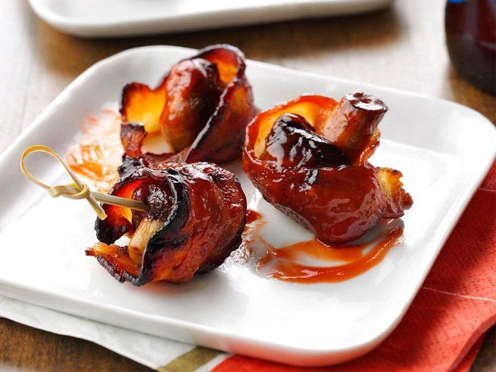 Barbecue Recette Legumes Bacon Champignon