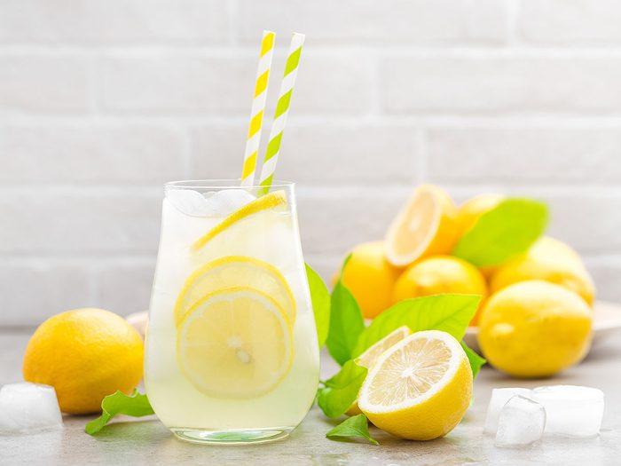La limonade est l'une des pires boissons pour s'hydrater.