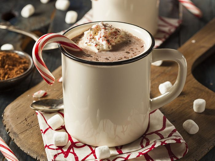 Le chocolat chaud est l'une des pires boissons pour s'hydrater.