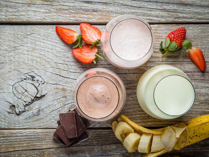 Le lait aromatisé est l'une des pires boissons pour s'hydrater.