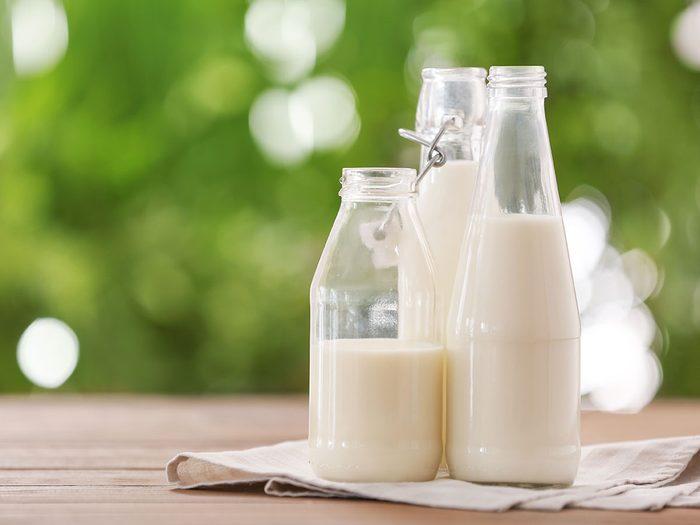 Le lait est l'une des meilleures boissons pour s'hydrater.