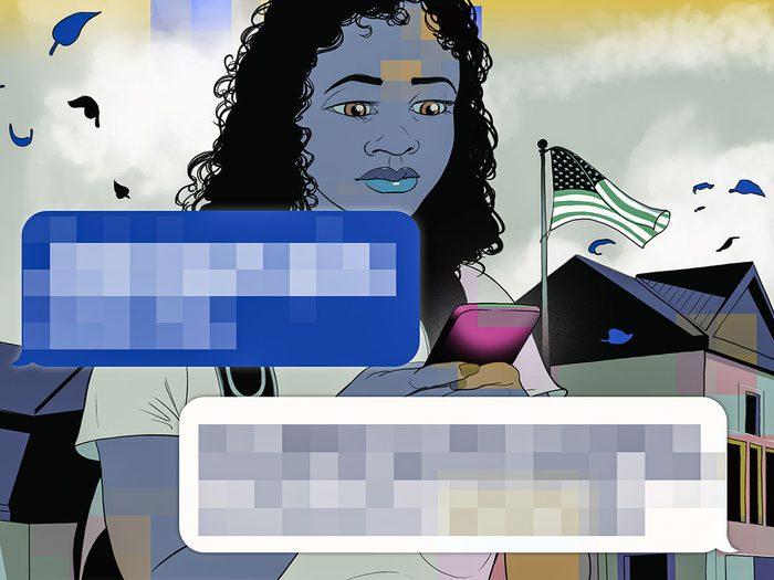Sextorsion, cyberfraude, cyberharcèlement.