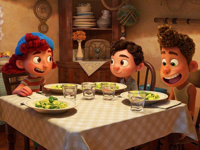 Jacob Tremblay dans le film d'animation Luca.