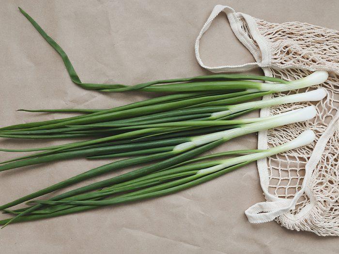 Les échalotes, ou oignons verts font partie des légumes à planter à partir des restes de cuisine.