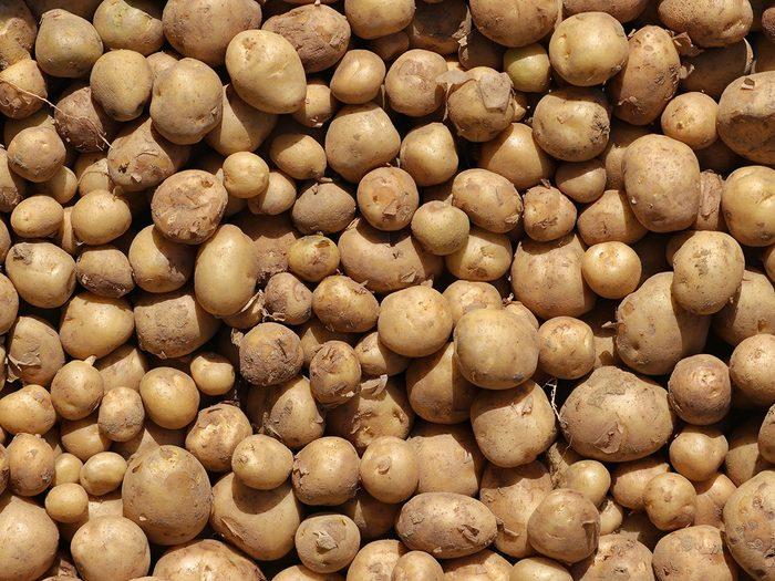 Les pommes de terre regorgent de potassium.